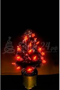 Елка оптоволоконная с красными звездами (45 см)