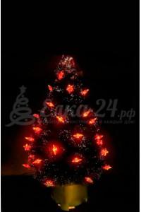 Елка оптоволоконная с красными звездами (60 см)