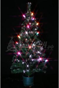 Елка оптоволоконная с разноцветными свечками (80 см)